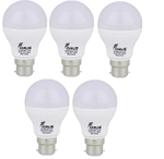 Forus 5 W Cool White Led Bulb Pack Of 5