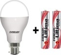 Eveready LB-B22-9W-230V-3000K LED Bulb 9W B22 Pin Type (Pearl White)