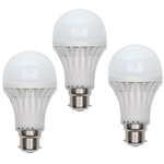 JMD 9W 3Pcs B22 Pin Type Cool White LED Bulb