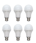 JMD 5W 6Pcs B22 Pin Type Cool White LED Bulb