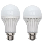 JMD 7W 2Pcs B22 Pin Type Cool White LED Bulb