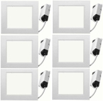 Victor Led DLS12- 101 12 Watt LED Downlight Combo Pack Of 6 White