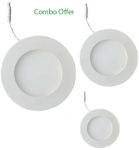 Victor Led DLR18- 101 18, 12, 6W LED Downlight Combo Pack Of 3