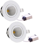 Victor Led CR16-201 16 Watt LED Downlight Pack Of 2 White