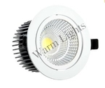 Warm Lights 24 W Round Natural White Cob Down Lights V CDL 3D