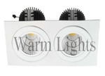 Warm Lights 2x50 W Square Natural White High Power Downlight V LHP 1D