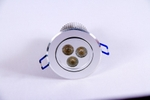 Noble Electricals NE/DL3*3 9W Blue Silver Aluminium Coated LED Down Light