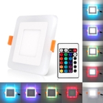 SYSKA 6W Cool White 3W Warm White Square Panel Light