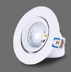 Noble Electricals White Powder Coated 20W Neutral White Track LED Spot Light NE/TRK 20