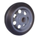 Pioneer 250x50 Mm Fixed Castor Heavy Duty Bounded Rubber Tyre Wheels