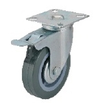 Race MLT-M-101-75-PT-BK-G PVC Wheel Casters(Wheel Dia 75 Mm Tread Width 21 Mm)