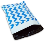 DynaFlex 6 X 8 Inch Premium Printed Courier Bag Chevron-Blue