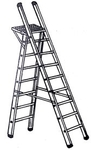 Super 19 Feet Aluminium Heavy Duty Stool Cum Ladder With Platform