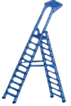 Chirag Metal 8 Ft Aluminium Self Supported Folding Ladder Step 2 1/2""