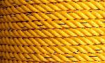 Azuka 24mm Dia 220 Mtr Golden Yellow With Black Tracer Industrial Rope With Meter Mark Printing On Rope