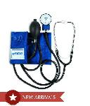 BREMED Aneroid Sphygmomanometer With Built In Stethoscope