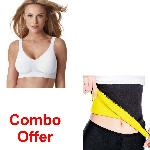 Dee Mark Combo Of Smart Bra Pack Of 3 With Hot Shepar-l SB+HOTSHEPAR-L