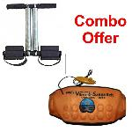 Dee Mark 3 In 1 Sauna Belt With Tummy Trimmer Combo Pack