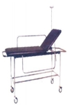 Medfurnish Patient Trolley With 2 Section Fixed Cushioned MDF 525