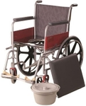 Vissco Commode And Mag Wheels Invalid Regular Wheelchair 0969