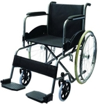 Vissco Black Magic Folding Wheelchair With Spoke Wheels 0975