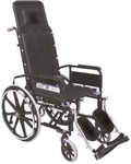 Vissco Invalid Reclining Folding Wheelchair With Elevated Footrest 993