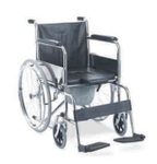 SHC AKE Invalid Folding Wheelchair Fixed Armrest & Footrest 0107