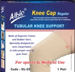 Albio Knee Cap Regular Pair Medium Size KL-02