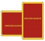 Asian 450 X 600 Mm Red Color Grooved Board