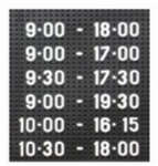 Asian 36 Mm Dotted Type Perforated Black Board Numeric Figure