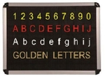 Asian 24 Mm Dotted Type Perforated Black Board Alphabetic Figure