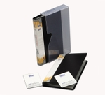 Solo BC 804 Business Cards Holder - 2x120 Cards (In A Case)-Black