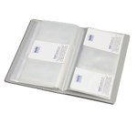 Solo BC 805 Business Cards Holder - 1x240 Cards (In A Case)-Grey