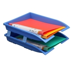 Solo Paper And File Tray Blue 2 Compartments TR 112