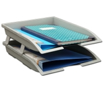 Solo Paper And File Tray Grey 2 Compartments TR 112