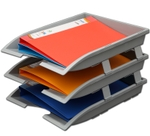 Solo Paper And File Tray Grey 3 Compartments TR 113