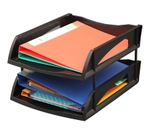 Solo Deluxe Paper And File Tray Black 2 Compartments TR 312