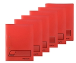 Texet Red Spring File Pack Of 6