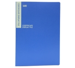 Solo DF 502 Certificate Display File - 20 Pockets (Blue)