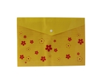 Saya SY-209OD Designer Foolscap Size Yellow Document Bag Pack Of 12