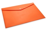 DataKing Orange My Clear Bag With Line Embossing 12 Pcs DKCB1021FO
