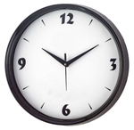 Asian Round White And Black Wall Clock 14