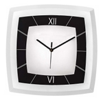 Asian Square White And Black Wall Clock 21