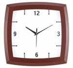 Asian Square White And Brown Wall Clock 22