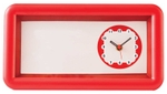Asian Rectangle Red And Ivory Wall Cum Table Clock 42