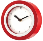 Asian Round Dark Red And White Wall Cum Table Clock 51