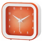 Asian Square Orange And White Wall Cum Table Clock 57