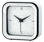 Asian Square White Wall Cum Table Clock 58