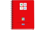Solo NA 578 Note Book (140 Pages) 3 Color A5 - Red