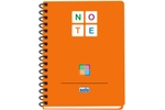 Solo NA 578 Note Book (140 Pages) 3 Color A5 - Orange